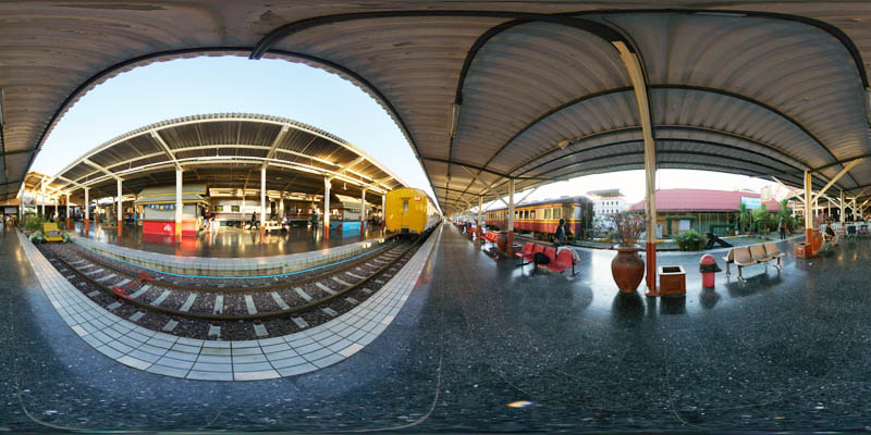 Chiang Mai Train Station Platform 2017 Panorama Preview